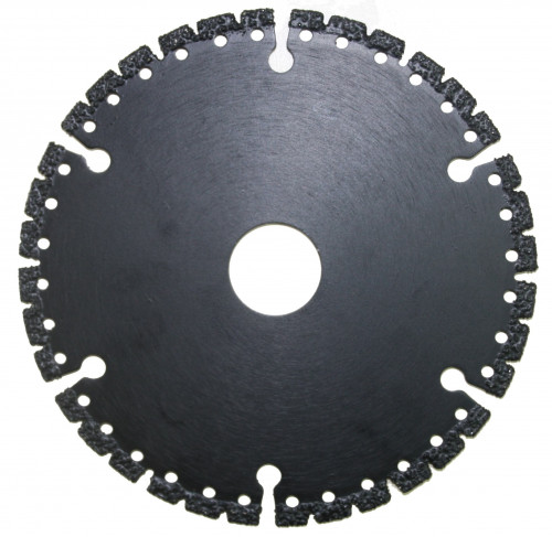 IRON diamond blade for reinforced concrete, metals, plastic