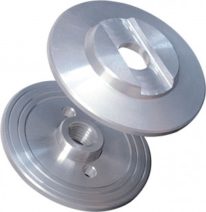 Double flanges for blade